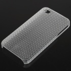 Mesh Protective PC Back Case for Iphone 4/4S - Transparent White