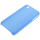 Mesh Protective PC Back Case for Iphone 4/4S - Blue