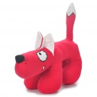 Fabric Art Cute Cartoon Dog Style Doll Toy - Red