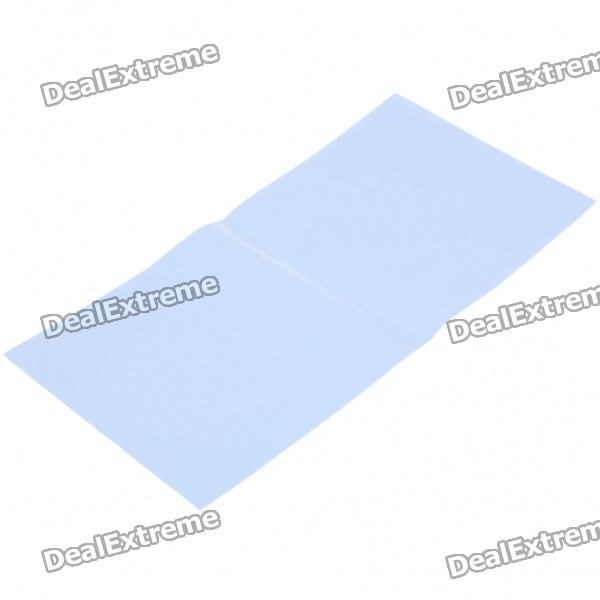 DIY Silicone Thermal Pad Heat Conduct Mat for Heat Sink - Blue (400mm x 200mm x 1mm) synthetic graphite cooling film paste 300mm 300mm 0 025mm high thermal conductivity heat sink flat cpu phone led memory router