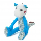 Cute Fabric Art Cartoon Dragon Style Doll Toy - Blue (Posture Adjustable)
