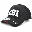 Embroidered CSI Pattern Cotton Fabric Baseball Hat/Cap (Random Color)