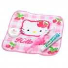 Portable Hello Kitty Style Storage Case Box w/ Toothbrush + Toothpaste + Towel + Soap Travel Set