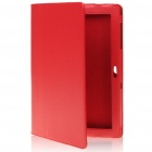 Protective PU Leather Case for Samsung P7510 - Red
