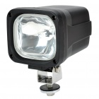 Square HID Vehicle White Light Lamp - Black