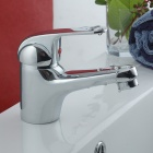Modern Brass Single Lever Faucet (Silver)