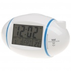 "3.1"" LCD American Football Style Projection Clock w/ Thermometer - White (3 x AAA)"
