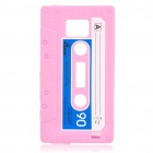 Magnetic Tape Style Protective Silicone Back Case for Samsung i9100 - Pink