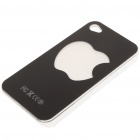 Unique Protective Case with LED 7-Color Light for iPhone 4 - Black + White