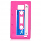 Magnetic Tape Style Protective Silicone Back Case for Samsung i9100 - Deep Pink