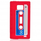 Magnetic Tape Style Protective Silicone Back Case for Samsung i9100 - Bright Red