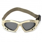 Outdoor Anti-shock Safety Eye Protection Metal Mesh Shield Goggle - Random Color