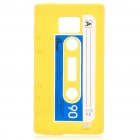 Magnetic Tape Style Protective Silicone Back Case for Samsung i9100 - Yellow