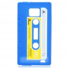 Magnetic Tape Style Protective Silicone Back Case for Samsung i9100 - Blue