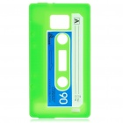 Magnetic Tape Style Protective Silicone Back Case for Samsung i9100 - Green
