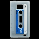 Magnetic Tape Style Protective Silicone Back Case for Samsung i9100 - Subtransparent White