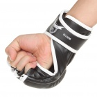 Professional Training Boxing Glove - Black + White (Pair)