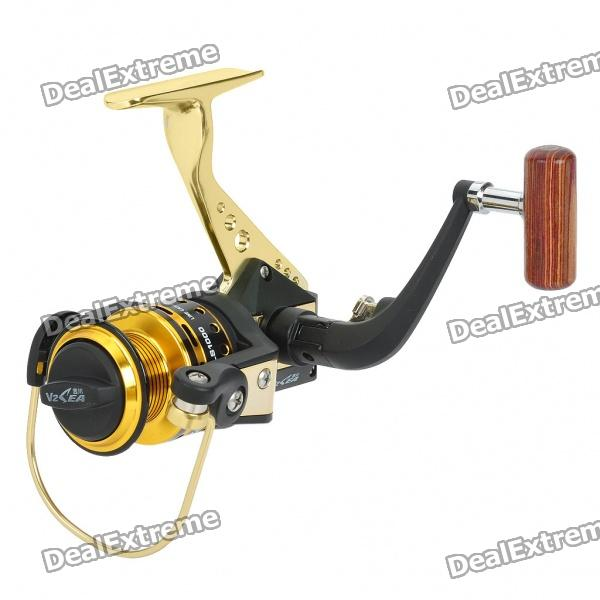 Professional Fishing Coiling Reel Set - Golden + Black set of shooting bow fishing slingshot catapult hunting set with reel spincast gear ratio 3 3 1