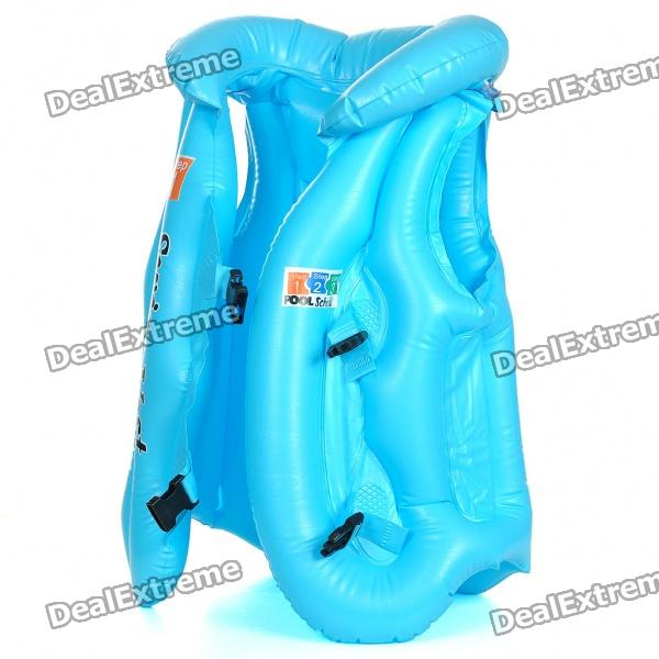 Swimming Aid Inflatable Vest - Blue (Size L)
