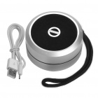 Compact Wireless Bluetooth V2.1 Rechargeable MP3 Music Stereo Speaker - Silver + Black