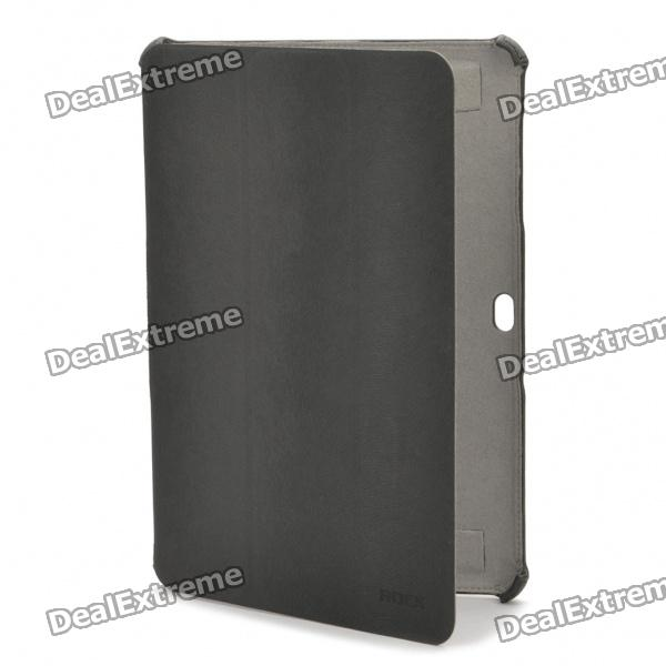 ROCK Protective PU Leather Case for Samsung Galaxy Tab P7510 P7500 - Deep Grey