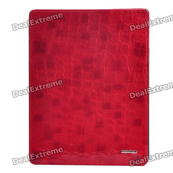 Ultrathin Protective Leather Case for iPad 2 - Red