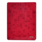 Ultradünne Protective Leather Case für iPad 2 - Red