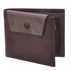Fashion Folding Multi-Compartment Leather Wallet - Coffee