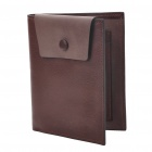 Compact Fashion Folding Leather Wallet - Coffee