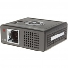 Mini LED Projector with HDMI/DC-IN/AV-IN/RGB-IN/YPbPr/USB/SD/MMC Card - Black