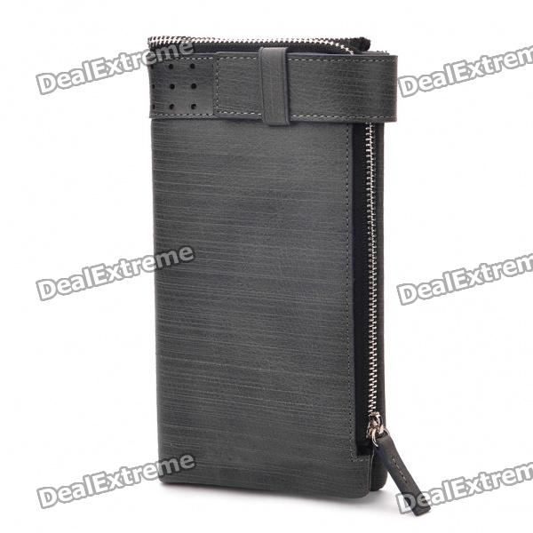 Multi-Function Elegant Fashion Folding Credit Card Wallet - Grey