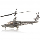 3-Channel Mini R/C Rechargeable Helicopter - Black + Grey