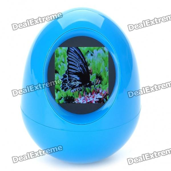 "1.5"" TFT USB Rechargeable Tumbler Digital LCD Photo Frame - Blue (128 x 128)"
