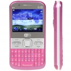 "Q5I 2.3"" LCD Screen Triple SIM 3-Network Standby Quadband TV Cell Phone w/ Wi-Fi + JAVA - Deep Pink"