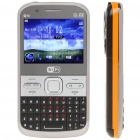 "Q5I 2.3"" LCD Screen Triple SIM 3-Network Standby Quadband TV Cell Phone w/ Wi-Fi + JAVA - Black"