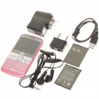 "Q5I 2.3"" LCD Screen Triple SIM 3-Network Standby Quadband TV Cell Phone w/ Wi-Fi + JAVA - Pink"