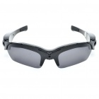 Rechargeable 5.0MP Pin-hole Spy DVR Camcorder Disguised as Sunglasses - Black (4GB)