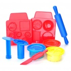 Kid's Burger Set Craft Plasticine and Modules Toys Set