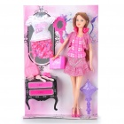 Ginni Lovely Fashion Dress Suit Girl Doll Toy Set (#83179)