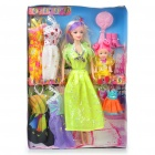 Charming Lovely Fashion Dress Suit Sisters Doll Toy Set (#8852)