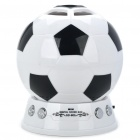 Creative Football Style Rechargeable MP3 Music Speaker Player with FM/SD Slot - Black + White