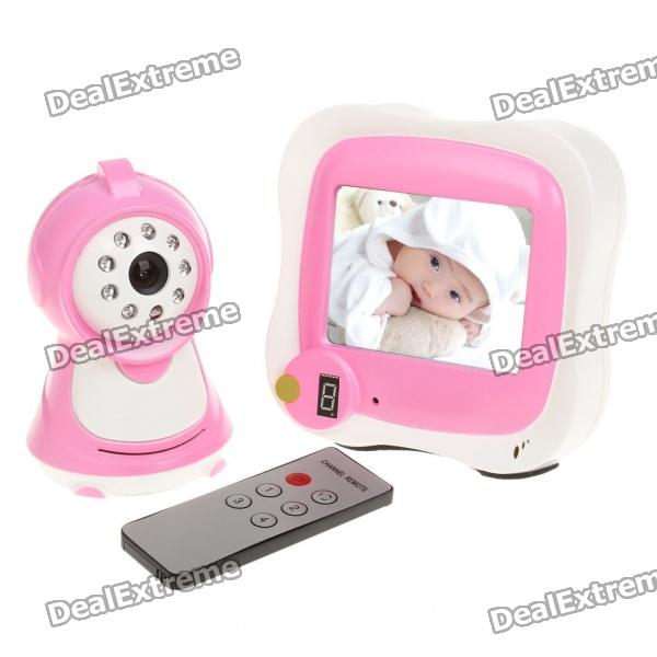 "2.4GHz Wireless 300KP Night Vision Security Surveillance Camera w/ 3.5"" LCD Handheld Baby Monitor"
