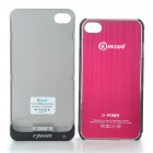 Rechargeable 2000mAh External Battery Back Case w/ Protective Back Case for iPhone 4/4S - Red