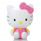 Cute Vinyl Hello Kitty Toy Dolls w/ Suction Cup - Pink + White (Random Style)