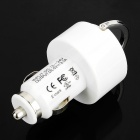 Car Cigarette Powered Dual USB Adapter/Charger for iPad/iPhone - White (DC 12~24V)