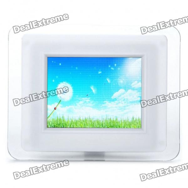 "3,5 ""TFT LCD USB Powered Digital Photo Frame w / Wecker / SD Slot - White (320 x 240)"