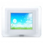 "3.5"" TFT LCD USB Powered Digital Photo Frame w/ Alarm Clock/SD Slot - White (320 x 240)"