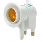 UK Plug to E27 Light Bulb Adapter w/ Switch (AC 220V)