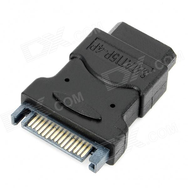 SATA 15pin Male to Molex 4pin Female Adapter sata 22 pin male to micro sata 16 pin female power adapter