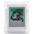 "Stylish A41 1.5"" LCD Desktop Digital Photo Picture Frame Album - White (8MB)"